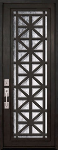 WDMA 42x96 Door (3ft6in by 8ft) Exterior 42in x 96in Contempo Full Lite Single Contemporary Entry Door 1