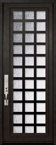 WDMA 42x96 Door (3ft6in by 8ft) Exterior 42in x 96in Cube Full Lite Single Contemporary Entry Door 1