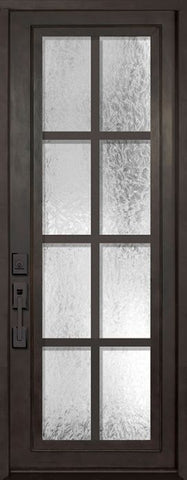WDMA 42x96 Door (3ft6in by 8ft) Exterior 42in x 96in Minimal Full Lite Single Contemporary Entry Door 1