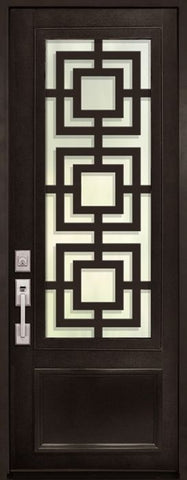 WDMA 42x96 Door (3ft6in by 8ft) Exterior 42in x 96in Moderne 3/4 Lite Single Contemporary Entry Door 1