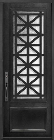 WDMA 42x96 Door (3ft6in by 8ft) Exterior 42in x 96in Contempo 3/4 Lite Single Contemporary Entry Door 1