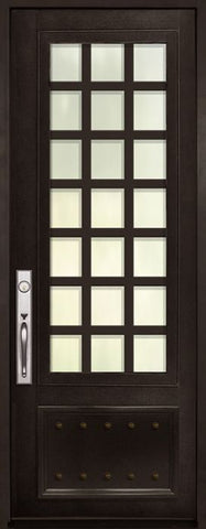 WDMA 42x96 Door (3ft6in by 8ft) Exterior 42in x 96in Cube 3/4 Lite Single Contemporary Entry Door 1