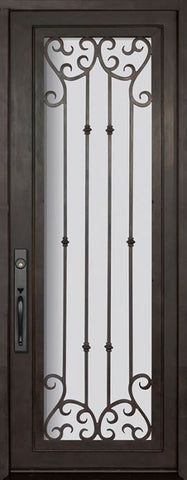 WDMA 42x96 Door (3ft6in by 8ft) Exterior 42in x 96in Valencia Full Lite Single Wrought Iron Entry Door 1