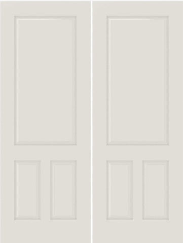 WDMA 44x80 Door (3ft8in by 6ft8in) Interior Bifold Smooth 3190 MDF 3 Panel Double Door 1
