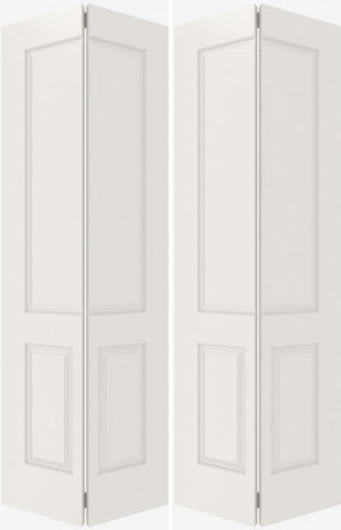 WDMA 44x80 Door (3ft8in by 6ft8in) Interior Bifold Smooth 3190 MDF 3 Panel Double Door 2