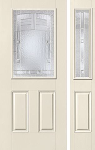 WDMA 44x80 Door (3ft8in by 6ft8in) Exterior Smooth MaplePark Half Lite 2 Panel Star Door 1 Side 1