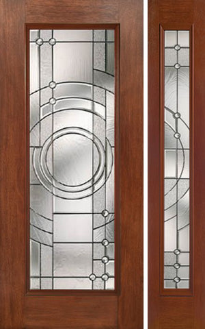 WDMA 44x80 Door (3ft8in by 6ft8in) Exterior Mahogany Full Lite Single Entry Door Sidelight EN Glass 1