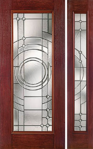 WDMA 44x80 Door (3ft8in by 6ft8in) Exterior Cherry Full Lite Single Entry Door Sidelight EN Glass 1