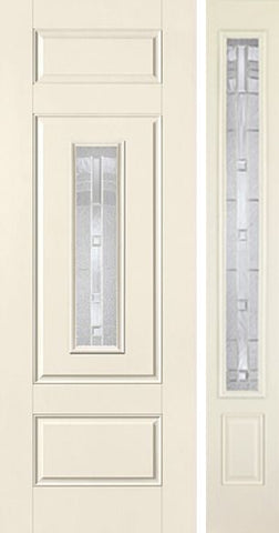 WDMA 44x96 Door (3ft8in by 8ft) Exterior Smooth MaplePark 8ft Center Lite 3 Panel Star Door 1 Side 1