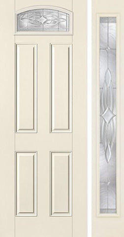 WDMA 44x96 Door (3ft8in by 8ft) Exterior Smooth Wellesley 8ft Camber Top Lite 4 Panel Star Door 1 Side 1