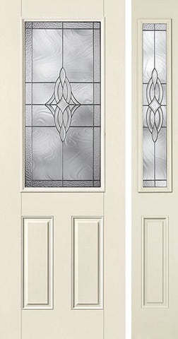 WDMA 44x96 Door (3ft8in by 8ft) Exterior Smooth Wellesley 8ft Half Lite 2 Panel Star Door 1 Side 1