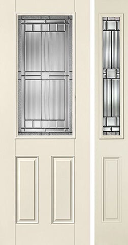 WDMA 44x96 Door (3ft8in by 8ft) Exterior Smooth SaratogaTM 8ft Half Lite 2 Panel Star Door 1 Side 1