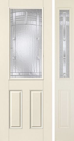 WDMA 44x96 Door (3ft8in by 8ft) Exterior Smooth MaplePark 8ft Half Lite 2 Panel Star Door 1 Side 1
