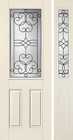 WDMA 44x96 Door (3ft8in by 8ft) Exterior Smooth Salinas 8ft Half Lite 2 Panel Star Door 1 Side Full Lite 1