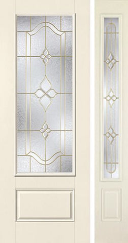 WDMA 44x96 Door (3ft8in by 8ft) Exterior Smooth Concorde 8ft 3/4 Lite 1 Panel Star Door 1 Side 1
