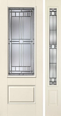 WDMA 44x96 Door (3ft8in by 8ft) Exterior Smooth SaratogaTM 8ft 3/4 Lite 1 Panel Star Door 1 Side 1