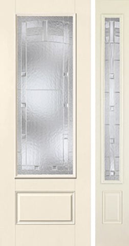 WDMA 44x96 Door (3ft8in by 8ft) Exterior Smooth MaplePark 8ft 3/4 Lite 1 Panel Star Door 1 Side 1
