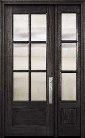 WDMA 44x96 Door (3ft8in by 8ft) Exterior Mahogany 96in 3/4 Lite 6 Lite SDL DoorCraft Door /1side 1
