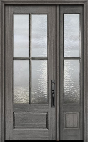 WDMA 44x96 Door (3ft8in by 8ft) Exterior Mahogany 96in 3/4 Lite 4 Lite SDL DoorCraft Door /1side 1