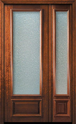 WDMA 44x96 Door (3ft8in by 8ft) French Mahogany 96in 3/4 Lite Portobello Door /1side 1