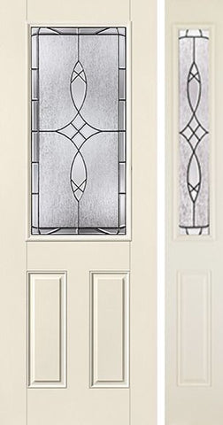 WDMA 44x96 Door (3ft8in by 8ft) Exterior Smooth Blackstone 8ft 3/4 Lite 2 Panel Star Door 1 Side 1