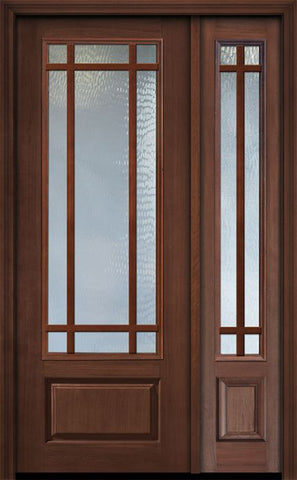 WDMA 44x96 Door (3ft8in by 8ft) Patio Cherry 96in 3/4 Lite Prairie 9 Lite SDL Door /1side 1