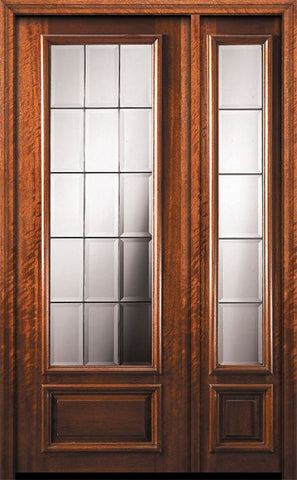 WDMA 44x96 Door (3ft8in by 8ft) Exterior Mahogany 96in 3/4 Lite French Door /1side 1