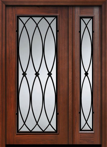 WDMA 46x80 Door (3ft10in by 6ft8in) Exterior Cherry IMPACT | 80in Full Lite La Salle Door /1side 1