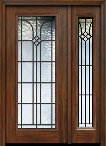 WDMA 46x80 Door (3ft10in by 6ft8in) Exterior Cherry 80in Full Lite Cantania / Walnut Door /1side 1