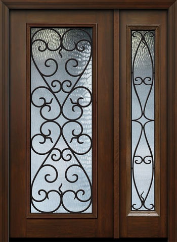 WDMA 46x80 Door (3ft10in by 6ft8in) Exterior Cherry 80in Full Lite Palermo / Walnut Door /1side 1