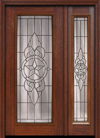 WDMA 46x80 Door (3ft10in by 6ft8in) Exterior Cherry 80in Full Lite Brazos / Walnut Door /1side 1