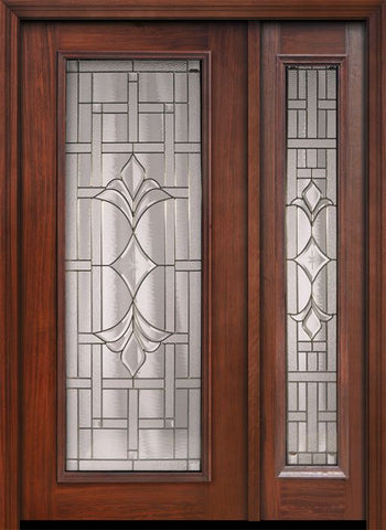 WDMA 46x80 Door (3ft10in by 6ft8in) Exterior Cherry 80in Full Lite Marsala / Walnut Door /1side 1