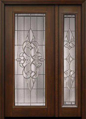 WDMA 46x80 Door (3ft10in by 6ft8in) Exterior Cherry 80in Full Lite Courtlandt / Walnut Door /1side 1