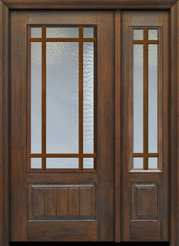 WDMA 46x80 Door (3ft10in by 6ft8in) Patio Cherry 80in 3/4 Lite 1 Panel 9 Lite SDL Door /1side 1