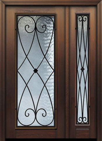 WDMA 46x80 Door (3ft10in by 6ft8in) Exterior Cherry 80in Full Lite Charleston Door /1side 1