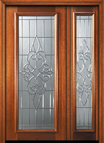 WDMA 46x80 Door (3ft10in by 6ft8in) Exterior Mahogany 80in Full Lite Courtlandt Door /1side 1