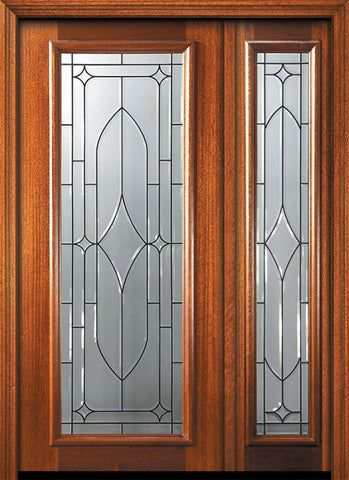 WDMA 46x80 Door (3ft10in by 6ft8in) Exterior Mahogany 80in Full Lite Bourbon Street Door /1side 1