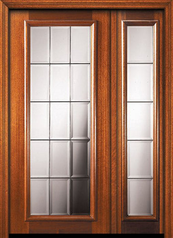 WDMA 46x80 Door (3ft10in by 6ft8in) Exterior Mahogany 80in Full Lite French Door /1side 1