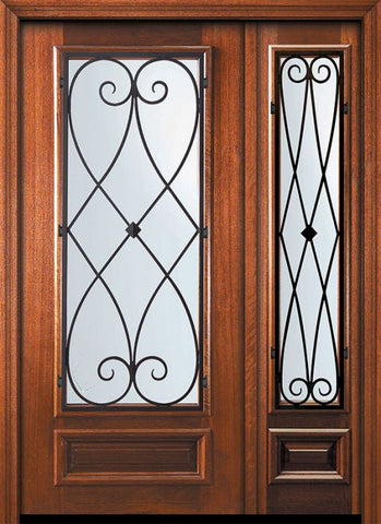 WDMA 46x80 Door (3ft10in by 6ft8in) Exterior Mahogany 80in 3/4 Lite Charleston Door /1side 1