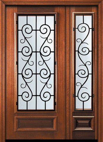 WDMA 46x80 Door (3ft10in by 6ft8in) Exterior Mahogany 80in 3/4 Lite St. Charles Door /1side 1