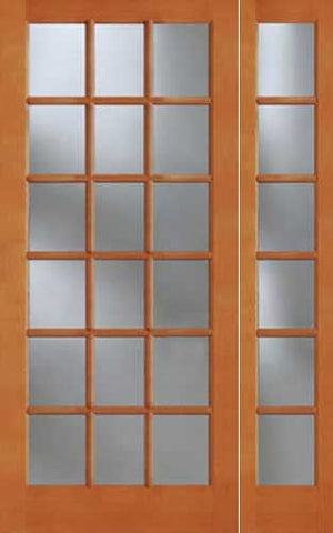 WDMA 46x96 Door (3ft10in by 8ft) Exterior Fir 1518 18-Lite Door Sidelight 1