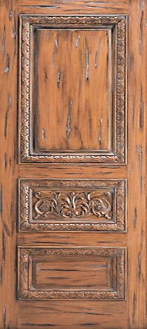 WDMA 48x120 Door (4ft by 10ft) Exterior Mahogany Tuscany Style Hand Carved Single Door scroll motif 1