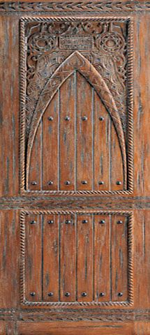 WDMA 48x120 Door (4ft by 10ft) Exterior Mahogany Moroccan Style Hand Carved Single Door 1