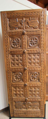 WDMA 48x120 Door (4ft by 10ft) Exterior Mahogany Indian Style Hand Carved Single Door 2