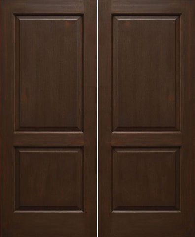 WDMA 48x80 Door (4ft by 6ft8in) Interior Mahogany 80in Two Panel Square Ovalo Sticking Double Door 1