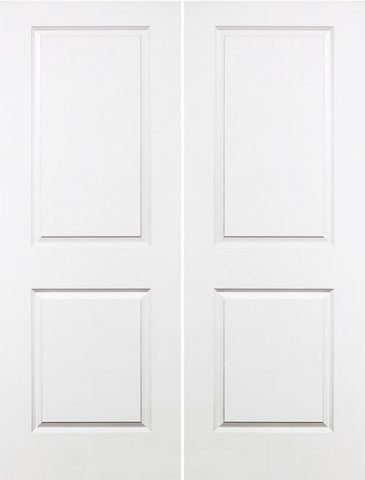 WDMA 48x80 Door (4ft by 6ft8in) Interior Swing Smooth 80in Carrara Solid Core Double Door|1-3/4in Thick 1