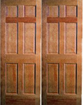 WDMA 48x80 Door (4ft by 6ft8in) Interior Barn Pine 80in 6 Panel Double Door | 108 1