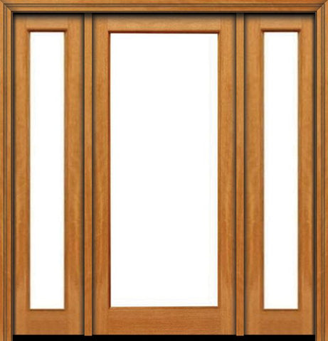 WDMA 48x80 Door (4ft by 6ft8in) French Mahogany 80in 1 lite Single Door/2side IG Glass 1