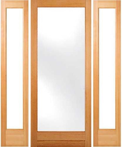 WDMA 48x80 Door (4ft by 6ft8in) Patio Fir 1-3/4in Exterior Doors 2 Sidelight 80in 1