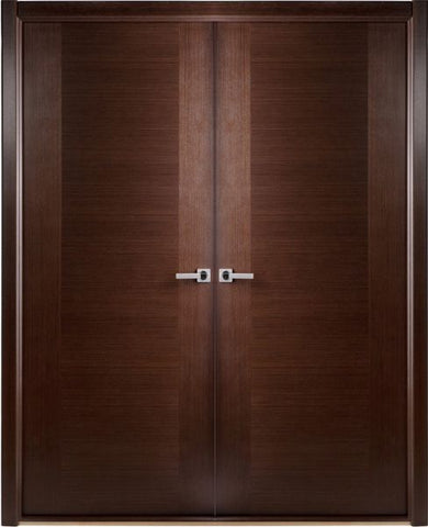 WDMA 48x80 Door (4ft by 6ft8in) Interior Pocket Wenge Contemporary Double Door African Veneer 1